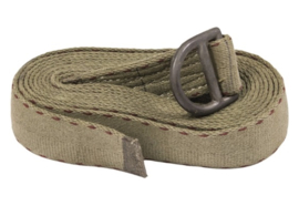 US Army Heavy webbing  Cargo strap tie Down 5 feet - groen - 45 mm breed - origineel