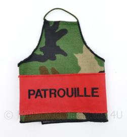 Defensie Custom made Patrouille armband Woodland - 26 x 50 cm - origineel