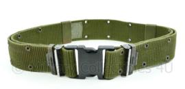US Army LC2 belt met zwart kunststof slot - size Large - origineel