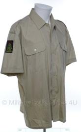 Korps Mariniers overhemd met embleem khaki - ongedragen - korte mouw - maat 41- origineel