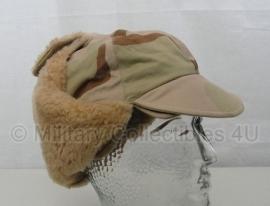 KL Desert camo winter cap - maat 59 of 61 cm. - origineel