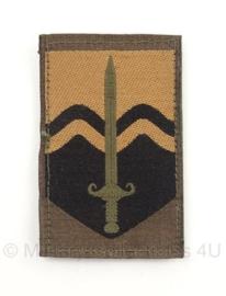 KL Nederlandse leger Nationaal Territoriaal Commando arm embleem 8 x 5,5 cm. - met klittenband - origineel