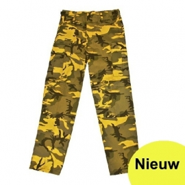 Broek yellow urban camo