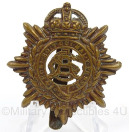 WO2 Britse baret insigne Royal Army Service Corps- afmeting 4 x 5 cm - origineel