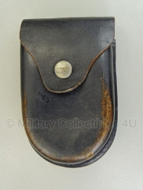 Bundespolizei Handboeien tas - zwart leer - origineel