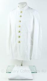 Koninklijke Marine  wit Toetoep uniform jas met broek - Marinier der 1e klasse - borstomtrek 106 cm, broek maat 51 - origineel