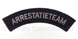 Nederlandse Politie  Arrestatieteam straatnaam embleem -  met klittenband - afmeting 15 x 5 cm