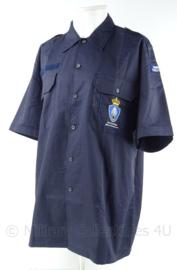 KMAR Marechaussee VT overhemd korte mouw met emblemen - ONGEDRAGEN - maat 7090/1520 - origineel