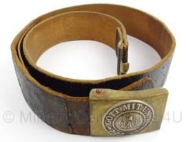 WO1 Duitse Preussen koppel met slot - Gott mit uns - maat 100 cm - origineel