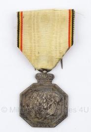 """Belgische """"1830-1930"""" bronzen medaille - Origineel"""