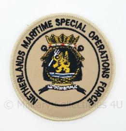 Korps Mariniers Netherlands Maritime Special Operations Force embleem - met klittenband - diameter 9 cm