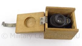 Onbekend meet instrument van het Russisch leger - in houten kistje - 9 x 7 cm - origineel
