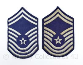 USAF US Air Force rang embleem paar old style  - Chief Master Sergeant - 16,5 x 10 cm - origineel