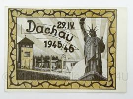 WO2 Duitse postkarte 1945 1946 Dachau - Tag der Befreuung - afmeting 15 x 10 cm - origineel