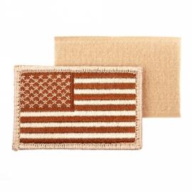 Uniform landsvlag USA Amerika stof - met klitteband - DESERT - 5,2 x 7,4 cm.