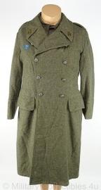 Zweedse WO2 overjas Zweedse mantel Regiment Fo 32 - met kraag, schouder- en borst insignes - maat 92, 1946 origineel