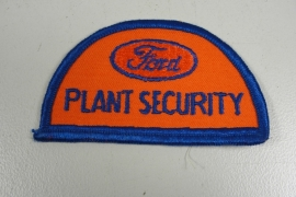 Ford Plant Security patch - uniek !  - origineel