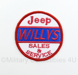 WO2 US Army Willys patch Sales & Service voor Willys MB, Willys M38 en Willys CJ - diameter 6 cm