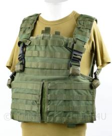 Defensie en Korps Mariniers Profile Equipment Plate Carrier groen vest met NIJ 3 Ballistische inhoud
