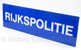 Rijkspolitie bord voor lichtbalk groot - 94,5 x 29 cm - origineel