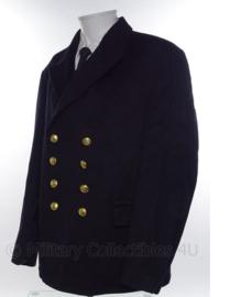 KM Koninklijke Marine wollen jas donkerblauw - 2 rijen knopen - maat 49 - origineel