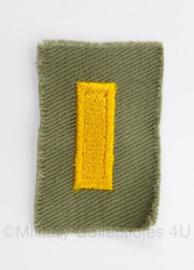 US Army WO2 model 2nd Lieutenant rang - afmeting 5 x 3 cm - origineel