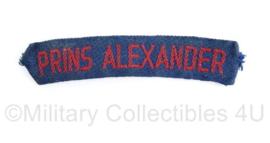 MVO straatnaam Regiment Prins Alexander - origineel