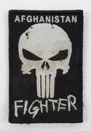 KL Landmacht veteraan embleem Afghanistan Fighter - met klittenband - afmeting 6 x 9 cm - origineel