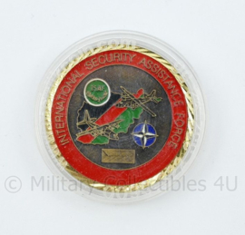 Coin Intra Theater Airlift system ISAF Afghanistan NATO - International Security Assistance Force  diameter 4 cm - origineel