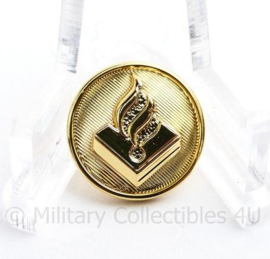 Nederlandse politie knoop 16 MM goud- origineel