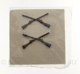 US collar insigne set - vietnam oorlog - 4 x 2 cm - 1969 - origineel