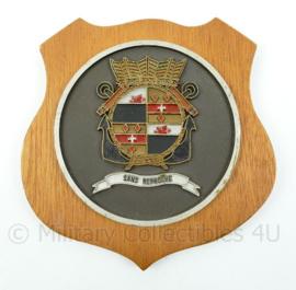 """Koninklijke Marine wandbord Groep Operationele Eenheden Mariniers- """"Sans Reproche"""" - afmeting 15,5 x 15,5 x 1,5 cm - origineel"""