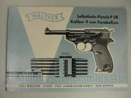 Walther P38 manual - origineel net naoorlogs