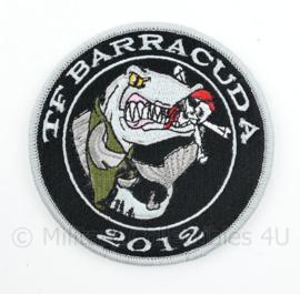 TF Taskforce Barracuda 2012 embleem - met klittenband - diameter 9 cm
