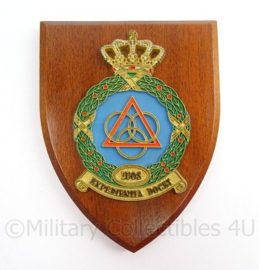 KLU Luchtmacht LUOS Luchtmacht Officiers School wandbordje - afmeting 14 x 18 x 1,5 cm - origineel