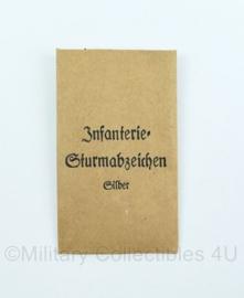 Wo2 Duits medaille zakje Infanterie Sturmabzeichen Silber - origineel