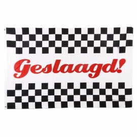 """Vlag """"Geslaagd"""" - Polyester -  1 x 1,5 meter"""