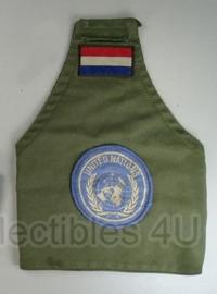 KL Nederlandse leger armband  groen - United Nations embleem - origineel