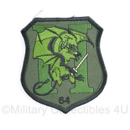 Defensie patch H64 green - 9 x 8 cm - met klittenband -  origineel