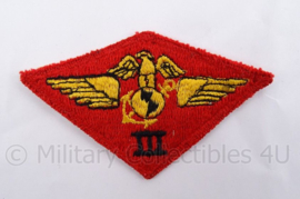 USMC Marines WO2 embleem - USMC third air wing patch - 10 x 6 cm - origineel