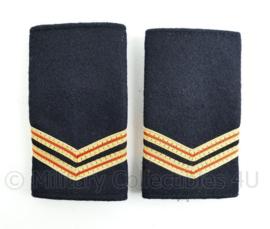 Nederlandse Brandweer zwart wollig epauletten - rang Brandwacht - paar - origineel
