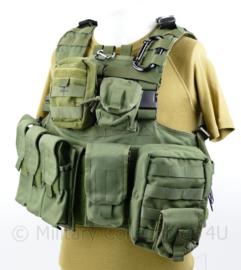 Defensie en Korps Mariniers Profile Equipment plate Carrier met NIJ3 inhoud en alle tassen - complete set -  one size - origineel