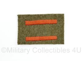 Wo2 Canadese / Britse Service stripes - 6,5 x 4 cm - origineel