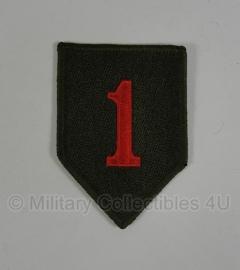 WWII US 1st Infantry Division patch - eigen aanmaak