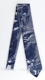 Stropdas vermoedelijk Gemeentepolitie - donkerblauw met licht blauwe strepen - nieuw in de verpakking - origineel