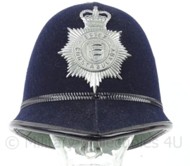 Britse Essex Constabulary Police rosetop bobby helm - vroege variant - origineel