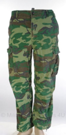 US Army ERDL poplin camo jungle fatique uniform broek zeldzaam 1970-  maat Medium/ Regular - origineel