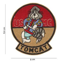 Tomcat USMC embleem stof - 9,4 x 8,0 cm