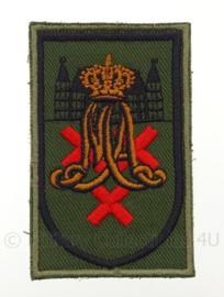 KL eenheid arm embleem Koninklijke Militaire Academie Breda - met klittenband - 8 x 5 cm - origineel