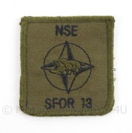 KL Landmacht borst embleem SFOR 13 - met klittenband - afmeting 5 x 5,5 cm - origineel